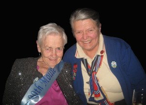 Mollie received 'The Lily' brooch at her 90th Birthday party