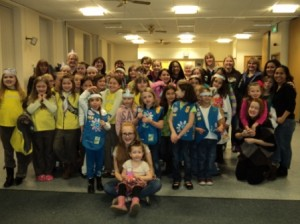 Girls from Soham joined Girl Scouts at RAF Mildenhall for Thanksgiving