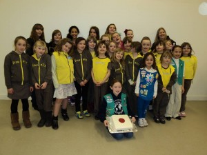 1st Soham Brownies hold a Japanese themed evening