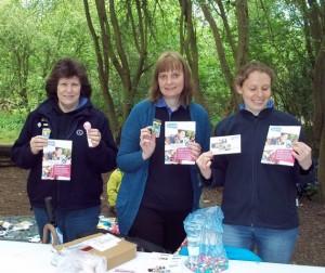 Guiding leaders run Easter Egg hunt stall