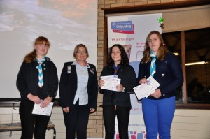 Jean presents Baden-Powell Challenge Awards