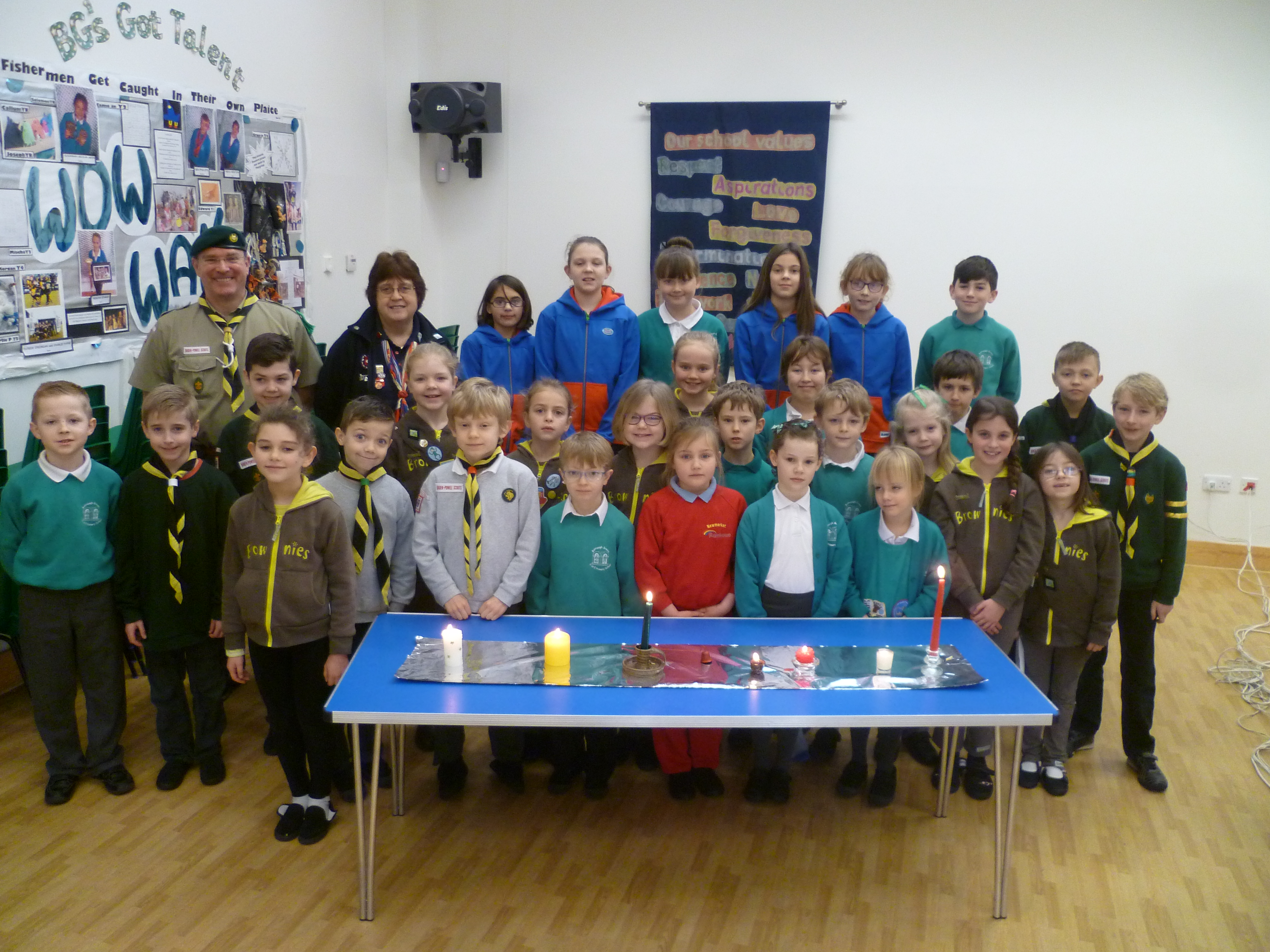 Members of guiding at Burrough Green Primary School