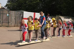Queen's 90th Birthday Plank Walking