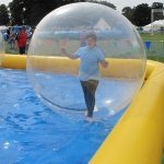 Water zorbing at Charnwood 2016