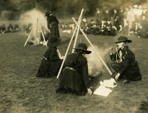 2nd Cambridge Guides at the Empire Day Rally in 1917
