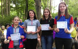 BP Awards at Girlguiding Linton District Campfire