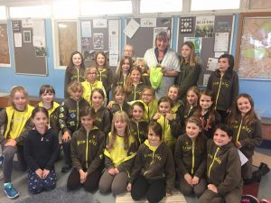 Hedgehog visits Guilden Morden Brownies