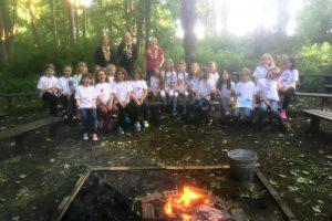 3rd Histon Brownies - campfire